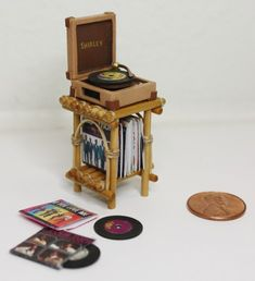 Miniature Record Player.
