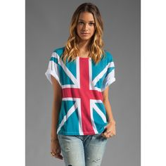 Wildfox Couture Union Jack Tee ($77) found on Polyvore