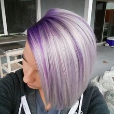 "Here's What You Need To Know About ""Color-Melting"" Your Hair - Hair - Magic Purple - Lilac Hair Hair Color And Cut, Cool Hair Color, Hair Colors, Sliver Hair Color, Colour Melt Hair, Pulp Riot Hair Color, Color Black, Black White, Violette Highlights"