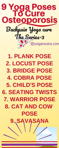 Yoga Poses For Osteoporosis These are the best poses for for any age group. Easy to perform at the comfort of your home to cure yourThese are the best poses for for any age group. Easy to perform at the comfort of your home to cure your Yoga For Osteoporosis, Osteoporosis Exercises, Yoga Fitness, Daily Yoga Routine, Basic Yoga Poses, Yoga Tips, Cow Pose, Yoga For Back Pain, Health