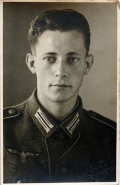 Handsome, young German soldier--war is just killing those people and made them kill others. total waste!!
