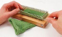 "Authentic Knitting 9""x3"" Sock Loom Knitting Board W/Dvd-"