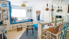 Interior designer Willie Garcia creates a coastal escape filled with handmade pieces, upcycled furniture, and eco-friendly materials