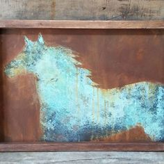 Canvas Art created with Metal Effects patinas | Artistry by Scarlet Johnson of J82 Studios | #ModernMastersInc Instagram Share