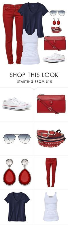 """Untitled #1143"" by gallant81 ❤ liked on Polyvore featuring Converse, Lodis, Oliver Peoples, TOKYObay, True Religion, Patagonia and Tusnelda Bloch"
