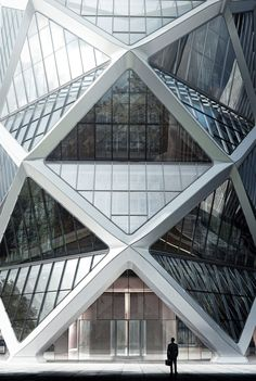 Steel and Glass Diagrid Structural Facade | Poly International Plaza, Beijing, Skidmore, Owings & Merrill