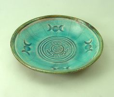 Goddess HECATE HEKATE  WHEEL  Offering Bowl by DeBaunFineCeramics, $19.75