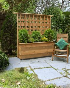 Use cedar and stock lumber to spruce up—and shield—your backyard
