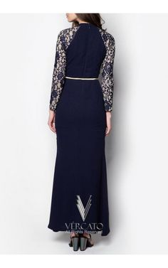 Exude sheer opulence for the coming festive season through this elegant maxi dress by VERCATO. Featuring a delicate lace detail decorating the sleeves, this piece combines the demurity of female apparels with the sophistication of modern times. SHOP here www.vercato.com