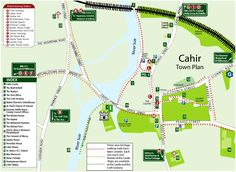 Map of Cahir, County of Tipperary, Ireland.