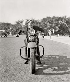 "1937, at 4'11"" and 88 lbs. she was the first woman to be issued a motorcycle license in DC."