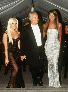 Gianni & Donatella Versace with Niaomi Campbell