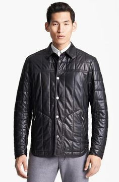 Zegna Sport Quilted Leather Jacket   Nordstrom