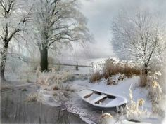 Winter by the pond