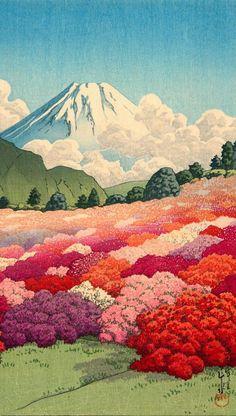 Japanese Art Prints, Japanese Painting, Chinese Painting, Monte Fuji, Art Occidental, Japon Illustration, Botanical Illustration, Art Japonais, Japan Art