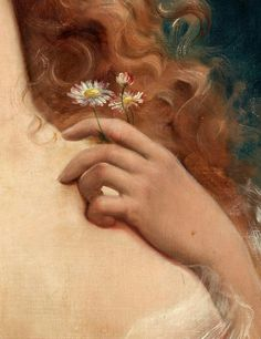 Young Woman with Daisies (detail)Emile VernonOil on canvasc. Unknown