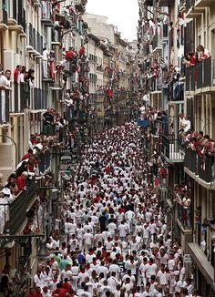Running of the Bulls, Spain