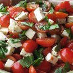 Tomatoe and mozzarella salad