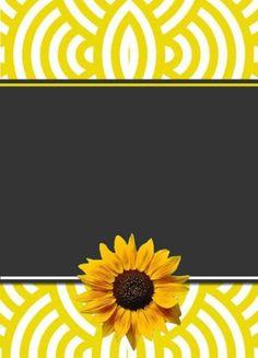21 Modelos de Convite de Girassol para Várias Ocasiões – Modelos de Convite Sunflower Baby Showers, Sunflower Party, Sunshine Store, Birth Celebration, Bow Wallpaper, Chalkboard Tags, Web Design Awards, Sunflowers And Daisies, Birthday Frames