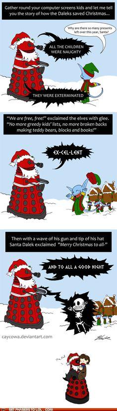 a dalek christmas story