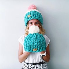 Helsinki Hat, Super chunky hat with pom pon, Chunky Hat, Super Bulky Hat, Knit Hat. Merino wool. Best Price. Unique hand made by YourYarnUa on Etsy