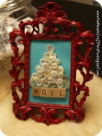 Red Heads Craft More Fun: Christmas Tree with Vintage Buttons