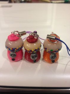 Polymer Clay Charms Bubble Gum Gumball Machines