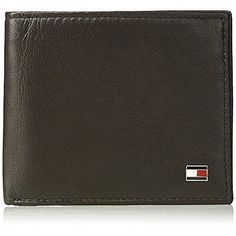 affd37c2f Tommy Hilfiger Leather Passcase Bifold Wallet Men Dark Brown Classic New
