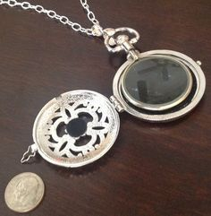Silver Plated Pocket Watch Style Magnifying by JENSTARDESIGNS, $60.00