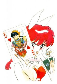 Did you draw a King or a Queen? Rumiko Takahashi, Ranma 1-2, Ranma Saotome