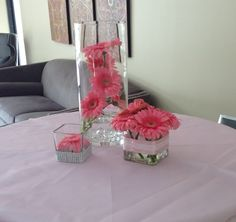 cool unique gerbera daisy wedding centerpieces with a round table