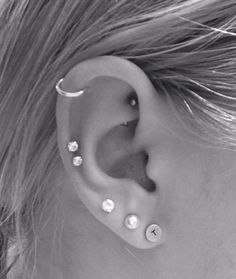 New double cartilage piercing!