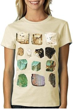 MINERALS Tshirt Geology Science tee WOMENS rocks by nonfictiontees, $16.00