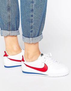 brand new bd1b2 f9d02 Nike Classic Cortez Trainers In Retro Leather Nike Cortez Femme, Nike  Retro, Retro Nike