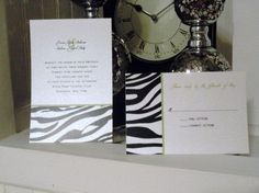Modern Zebra Print Wedding Invitations SAMPLE by InvitesCouture, $1.79