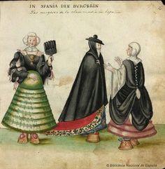 Spanish ladies. Codice Madrazo-Daza. 1631-1634.
