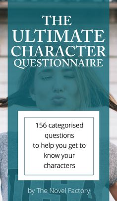 The Ultimate Character Questionnaire - over 150 questions grouped into categories. Advice on the do's and don't of using the character questionnaire, and links to more character development worksheets and templates. Writer Tips, Book Writing Tips, Writing Process, Writing Resources, Writing Help, Writing Skills, Novel Writing Software, Character Questionnaire, Character Questions