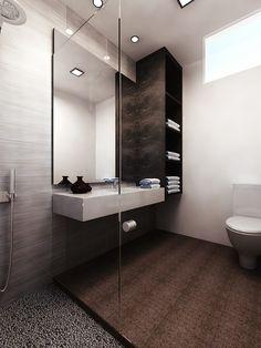 Summit Design Studio   [ Cloudy Black Print Wallpaper   Living Room ]