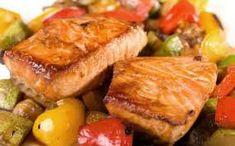 Recette excellente à vite réaliser surtout si on aime bien le saumon ;) Cette recette de saumon est accompagné de ratatouille et de riz ! Vous pourrez bien