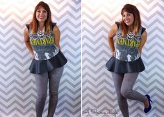 A Prime DIY // Turning your husbands old t-shirt into a Peplum Top! Super Videotutorial / anleitung