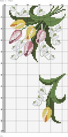Resultado de imagen para cross dot embroidery tulip