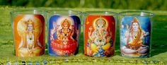 Mango Mantra 4 pk. Votive Candle Set Embellished by MangoMantras