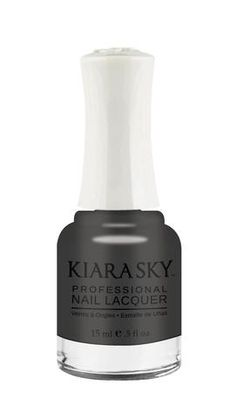 Kiara Sky Polish Smokey Smog N471. Kiara Sky® Professional Nail Lacquer is an advanced formula free of Formaldehyde, Toluene, and DBP. Our highly pigmented, high-fashion nail lacquer provides glassy, full coverage, long-wearing shine for natural nails. Kiara Sky patent-pending bottle design is paired with Precision Brush® technology engineered to complement our highly pigmented formula, giving you the most even and precise lacquer application. Available in 101 trendsetting...