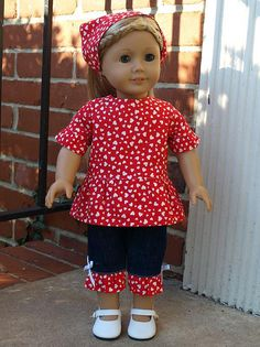 Simplicity 2458 View C-not made by me just nice to see a pattern made up and on a doll not a drawing.