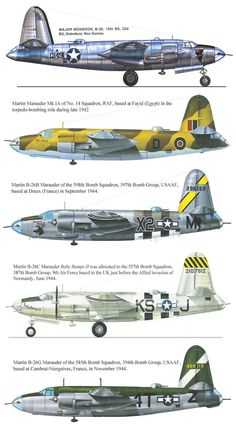 The Martin Marauder was one of the more controversial American aircraft of the Second World War, earning an early reputation as a killer aircraft. B 17, Ww2 Aircraft, Military Aircraft, Us Bombers, Ww2 Planes, Aviation Art, The Marauders, World War Two, Camouflage