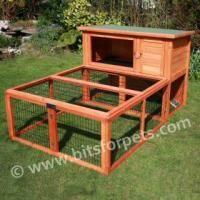 Indoor rabbit guinea pig hutch indoor outdoor 2 storey for Guinea pig outdoor run plans