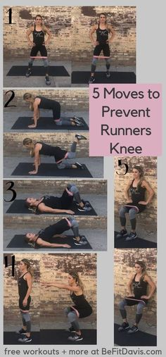 5 moves to prevent runners knee Running Injuries, Running Workouts, Beginner Workouts, Running Training, Weight Training, Stretches For Runners, Runners Knee Pain, Runners Legs, Knee Strengthening Exercises