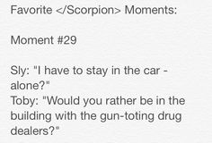 Favorite </Scorpion> Moments by Meredith - please give credit