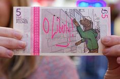 Banksy of England  Bristol currency features local icons
