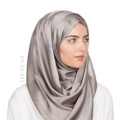 INAYAH | Silver Light Silk Antique #Hijab